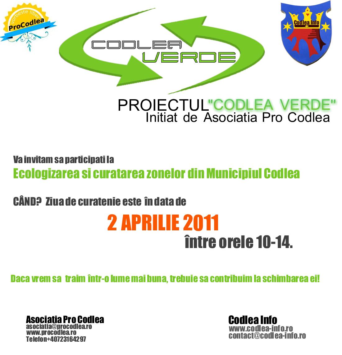 Codlea Verde Proiectul Codlea Verde