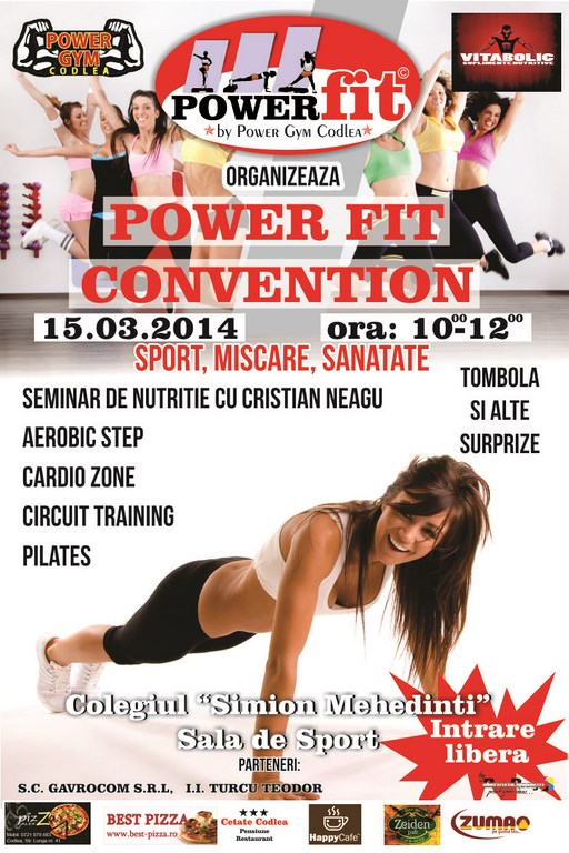 Power Fit Convention, Editia a 2-a, Sport, Miscare, Sanatate