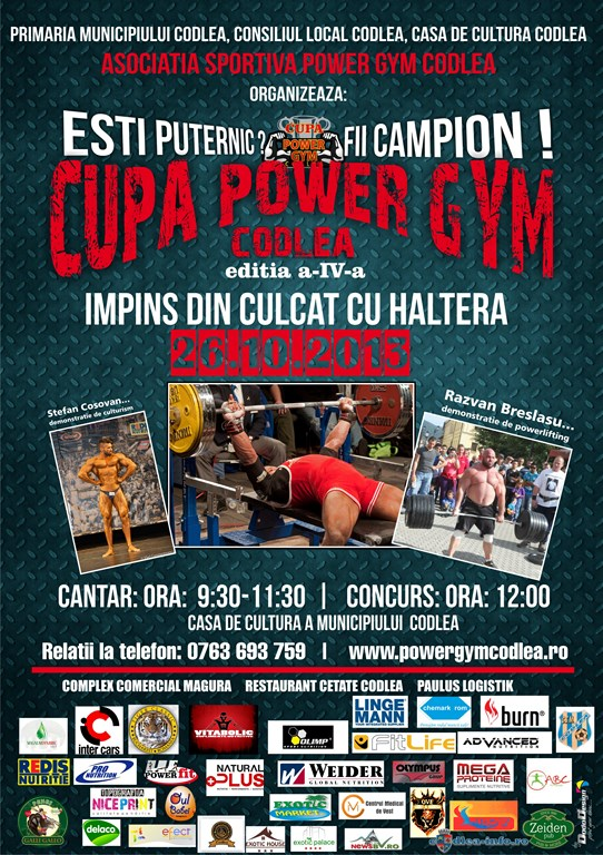 CUPA POWER GYM AFIS MARE (Copy)