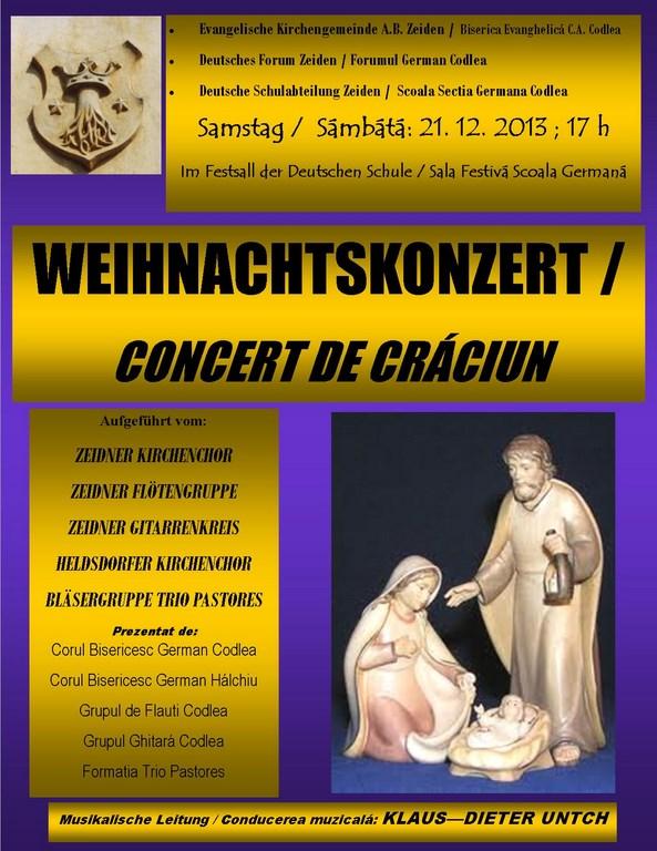 Concert Craciun comunitatea germana Codlea