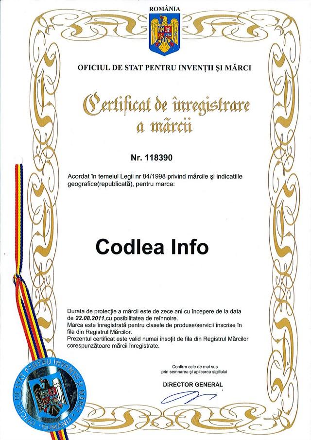 Marca inregistrata Codlea Info
