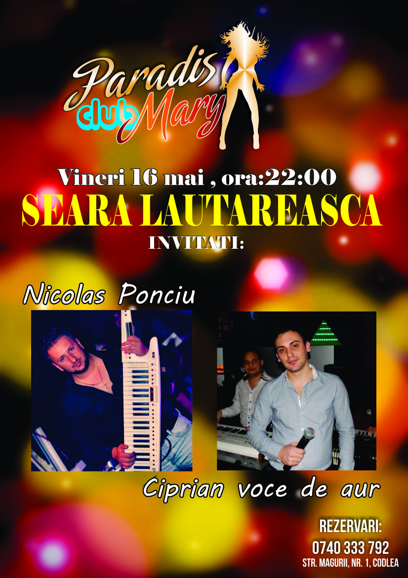 Seara lautareasca Paradis Club Mary