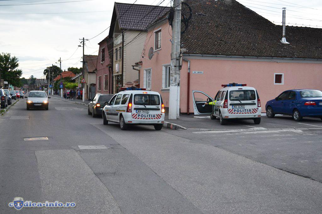 Politia rutiera control trafic Codlea