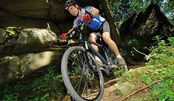 biciclisti montani