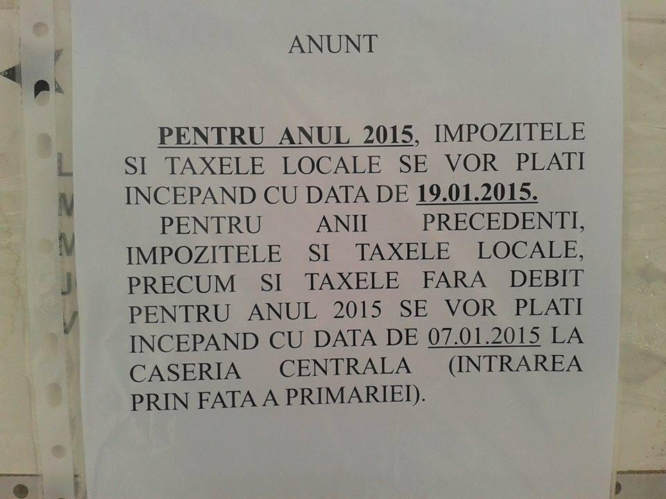 taxe si impozite codlea