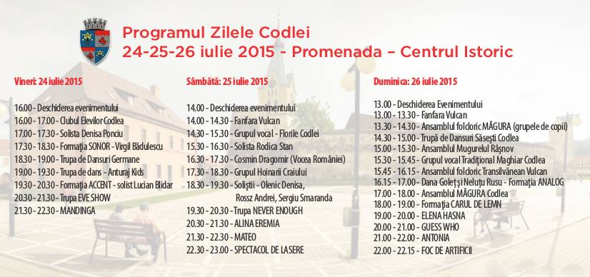 program zilele codlei 2015