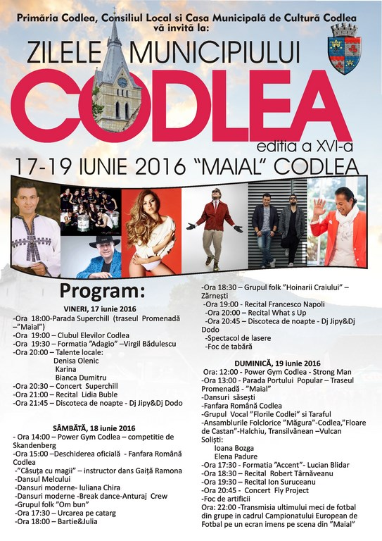 Program Zilele Codlei 2016 (Copy)