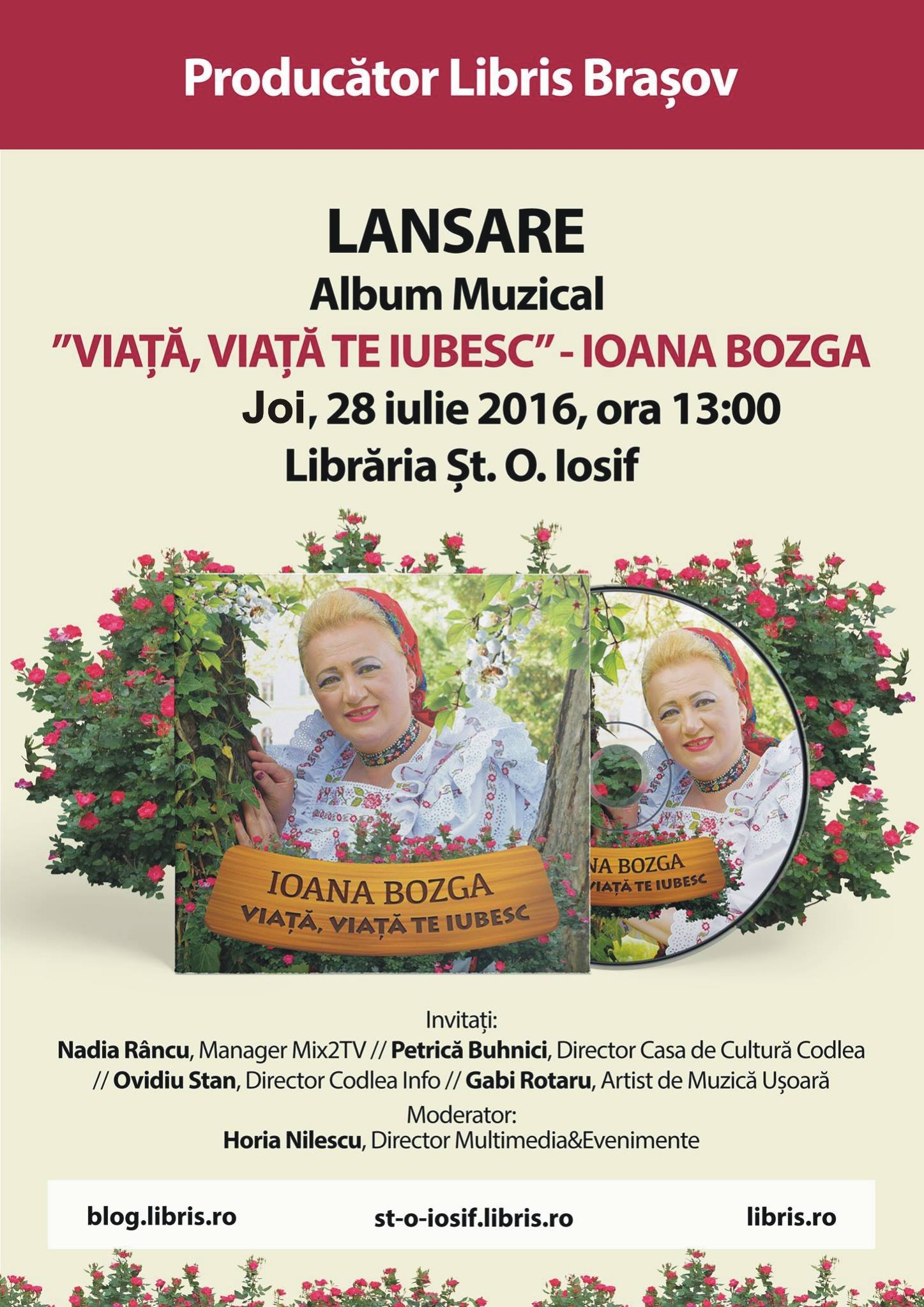 Lansare CD Ioana Bozga