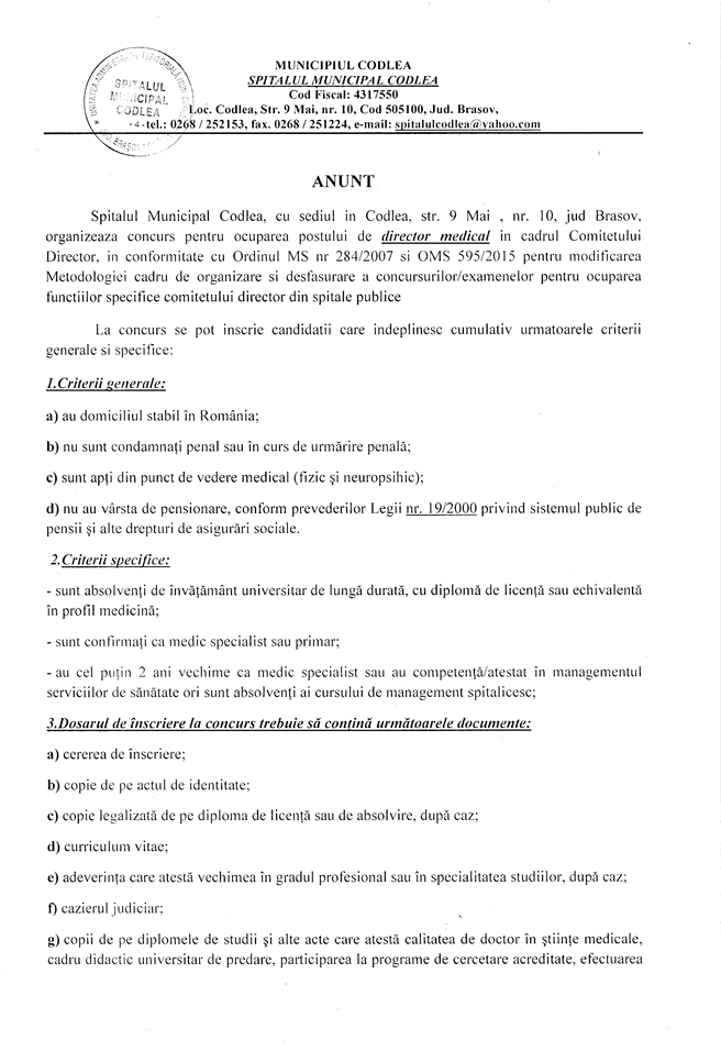 anunt-director-medical_1-1
